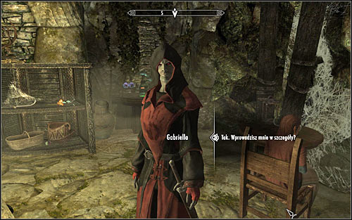 Look for Gabriella in the Dark Brotherhoods Sanctuary and ask her about the details of the new task (screen above) - Breaching Security - The Dark Brotherhood quests - The Elder Scrolls V: Skyrim Game Guide
