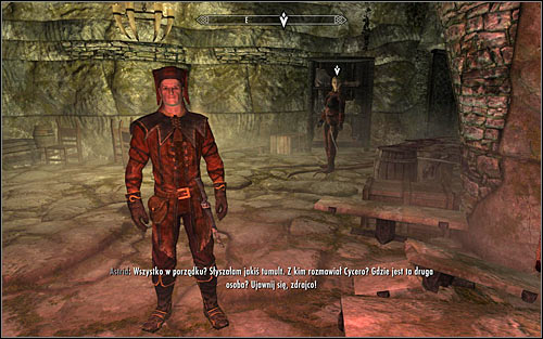 You do not have to look for Astrid because she should be here in a moment (screen above) - Whispers in the Dark - The Dark Brotherhood quests - The Elder Scrolls V: Skyrim Game Guide