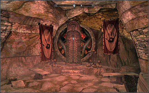 Head to the main cave of the Dark Brotherhoods Sanctuary and choose a passage leading north-east - Whispers in the Dark - The Dark Brotherhood quests - The Elder Scrolls V: Skyrim Game Guide