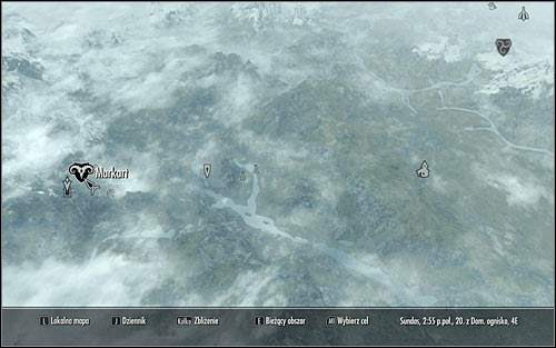 Leave the Dark Brotherhoods Sanctuary, open the map of the world and choose Markarth as your target (screen above) - Mourning Never Comes - p. 1 - The Dark Brotherhood quests - The Elder Scrolls V: Skyrim Game Guide