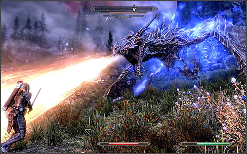The key to success will be of course forcing Alduin to land by using the Dragonrend Shout - Defeating Alduin - Dragonslayer - The Elder Scrolls V: Skyrim - Game Guide and Walkthrough