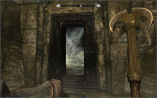After reaching the new tomb, start off by dealing with the magic-using Restless Draugr - Reaching the portal | The World-Eaters Eyrie - The World-Eaters Eyrie - The Elder Scrolls V: Skyrim Game Guide