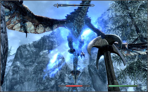 Take care of the dragon only after eliminating all the Draugrs, so that they won't disturb you - Reaching the portal - The World-Eater's Eyrie - The Elder Scrolls V: Skyrim - Game Guide and Walkthrough