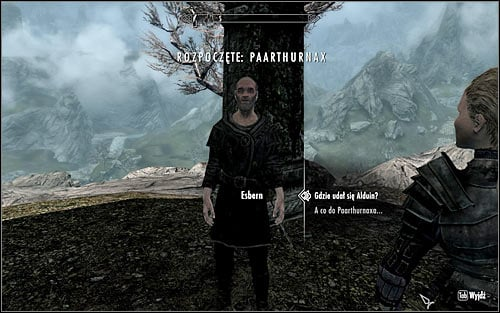 This mission is purely option and was included in this guide only because Paarthurnax participates in some of the end-game scenes - Killing Paarthurnax - Paarthurnax - The Elder Scrolls V: Skyrim - Game Guide and Walkthrough