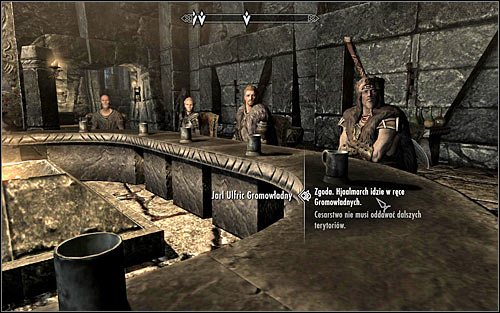 The last part of the negotiations will include a speech from the faction leader who still feels unsatisfied with the current settlements and will demand accepting his additional demands - Participating in the negotiations | Season Unending - Season Unending - The Elder Scrolls V: Skyrim Game Guide