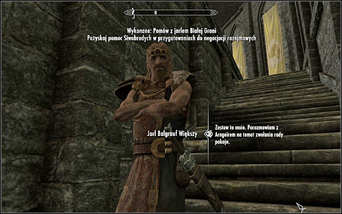The conversation with the Jarl can end it two ways - Preparing to catch a dragon | The Fallen - The Fallen - The Elder Scrolls V: Skyrim Game Guide