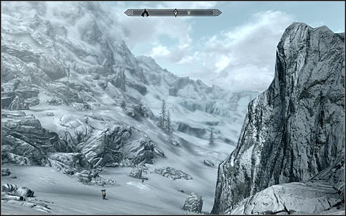Head out of Septimus Signuss Outpost and open the world map - Obtaining the Elder Scroll | Elder Knowledge - Elder Knowledge - The Elder Scrolls V: Skyrim Game Guide