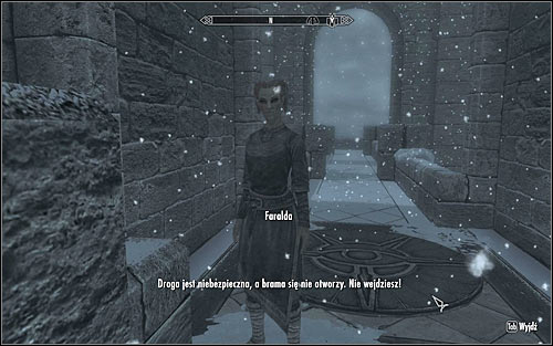 If its your first visit to the College of Winterhold, you will be automatically stopped by Faralda (screen above), who will tell you that only authorized people can enter - Heading to Winterhold | Elder Knowledge - Elder Knowledge - The Elder Scrolls V: Skyrim Game Guide