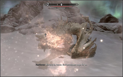 Paarthurnax will now want you to prove him that you're the Dragonborn and use the newly unlocked Shout on him - Meeting Paarthurnax - The Throat of the World - The Elder Scrolls V: Skyrim - Game Guide and Walkthrough