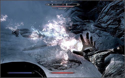 The climb will also include a few battles, during which you will have to eliminate Ice Wraiths (screen above) - Heading to The Throat of the World | The Throat of the World - The Throat of the World - The Elder Scrolls V: Skyrim Game Guide