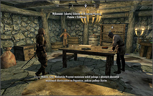 The good news is that you dont need to go to Riverwood by foot, as you can use fast travel - Escorting Esbern | Alduins Wall - Alduins Wall - The Elder Scrolls V: Skyrim Game Guide