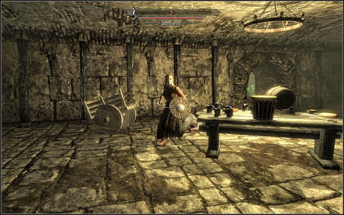 Both paths described above lead to the same room, inside which you will have to get rid of a lowlife (screen above) - Finding Esbern - A Cornered Rat - The Elder Scrolls V: Skyrim - Game Guide and Walkthrough