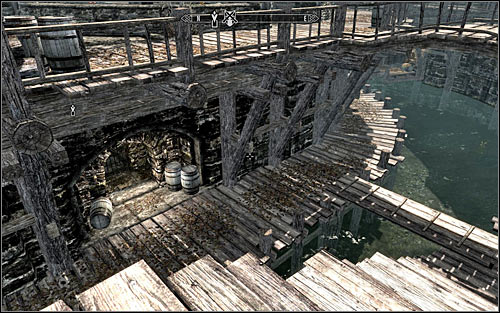 Locating the sewer entrance might prove difficult at first, as it's on the lower level of the city - Finding Esbern - A Cornered Rat - The Elder Scrolls V: Skyrim - Game Guide and Walkthrough