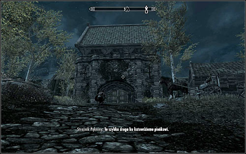 Regardless of the chosen method, you need to approach the city from the northern side (screen above) - Establishing Esberns whereabouts | A Cornered Rat - A Cornered Rat - The Elder Scrolls V: Skyrim Game Guide