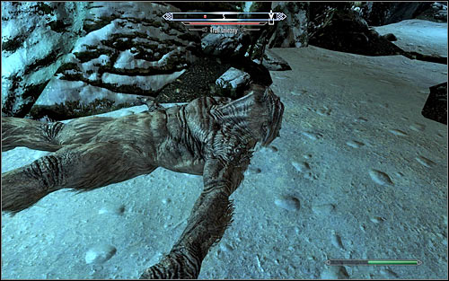 If your character specializes in close combat, carefully jump down and keep an eye on your health and stamina throughout the fight - Getting out of the embassy | Diplomatic Immunity - Diplomatic Immunity - The Elder Scrolls V: Skyrim Game Guide
