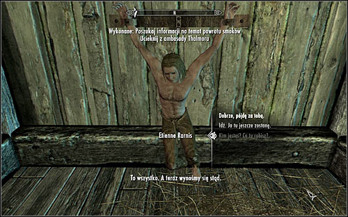 The less obvious option implies talking with Etienn Rarnis, imprisoned in the eastern-most cell (screen above) - Collecting information on the return of dragons - Diplomatic Immunity - The Elder Scrolls V: Skyrim - Game Guide and Walkthrough