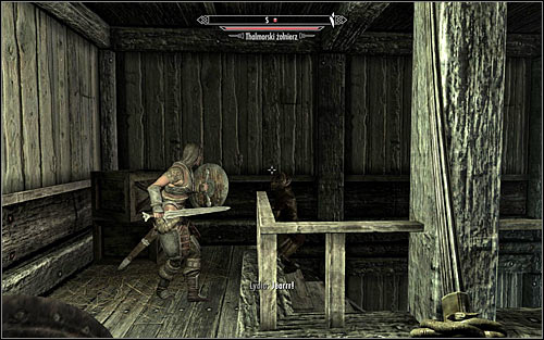 The dungeons are by default guarded by only one Thalmor Soldier and depending on the chosen tactic you can let him see you and eliminate him in direct combat (screen above), or attack him by surprise - Collecting information on the return of dragons - Diplomatic Immunity - The Elder Scrolls V: Skyrim - Game Guide and Walkthrough