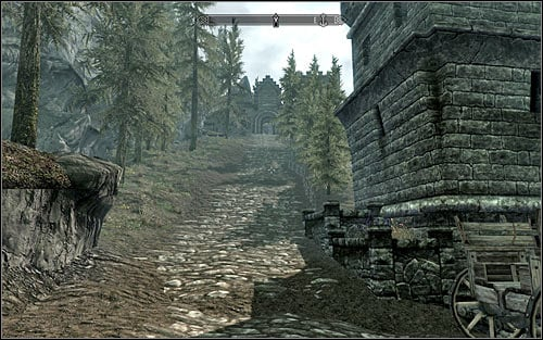 IF you want to reach Solitude on your own, you should begin beside Ustengrav, by the temple explored during one of the previous quests - Getting onto the Embassy party | Diplomatic Immunity - Diplomatic Immunity - The Elder Scrolls V: Skyrim Game Guide