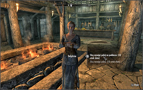 After getting inside the inn, approach Delphine and talk with her - Retrieving the Horn and giving it to the Greybeards | The Horn of Jurgen Windcaller - The Horn of Jurgen Windcaller - The Elder Scrolls V: Skyrim Game Guide