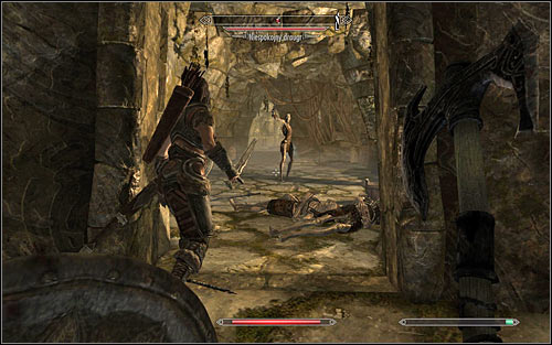 On your way you will come across dead bodies and of course you should examine them - Heading to the temple of Ustengrav - The Horn of Jurgen Windcaller - The Elder Scrolls V: Skyrim - Game Guide and Walkthrough
