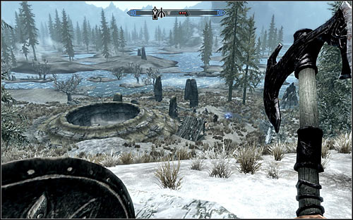 After reaching the northern part of the map, that is after getting nearby Morthal or Dawnstar, you will have an easier time getting to Ustengrav, as you will mainly travel through lowland and encounter weak enemies on your way - Heading to the temple of Ustengrav - The Horn of Jurgen Windcaller - The Elder Scrolls V: Skyrim - Game Guide and Walkthrough