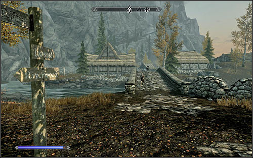 At first you will need to head east, but don't hope that the path will be straight - Heading to the Greybeards - The Way of the Voice - The Elder Scrolls V: Skyrim - Game Guide and Walkthrough