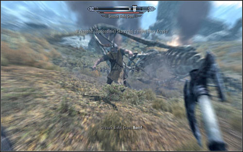 Soon enough a Whiterun Guard should approach you and tell that according to him youre the Dragonborn, capable of using the power of Shout - Fighting the Dragon | Dragon Rising - Dragon Rising - The Elder Scrolls V: Skyrim Game Guide