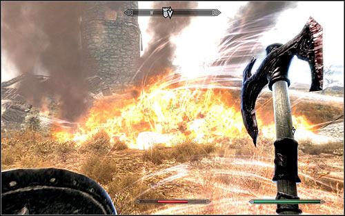 Regardless of the chosen tactic, you need to keep fighting until the beast falls - Fighting the Dragon | Dragon Rising - Dragon Rising - The Elder Scrolls V: Skyrim Game Guide