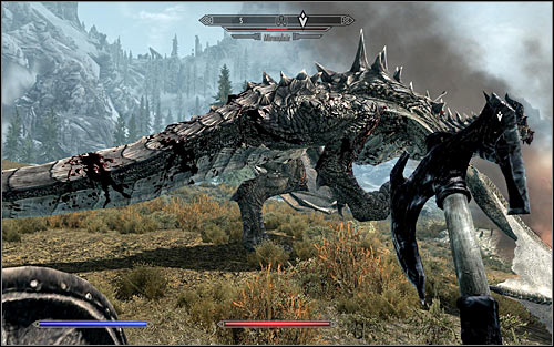 If you want to get rid of the Dragon in direct combat, you need to be very careful - Fighting the Dragon | Dragon Rising - Dragon Rising - The Elder Scrolls V: Skyrim Game Guide