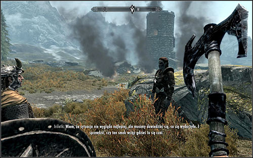 The Western Watchtower, by which the Dragon was spotted, is of course found outside Whiterun and you can head there in two basic ways, either along or by sticking to Irileth - Fighting the Dragon | Dragon Rising - Dragon Rising - The Elder Scrolls V: Skyrim Game Guide