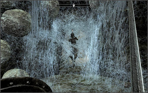 Once the fight's over, approach the man who was imprisoned by the spider - Arvel the Swift (screen above) - Heading to Bleak Falls Barrow - Bleak Falls Barrow - The Elder Scrolls V: Skyrim - Game Guide and Walkthrough