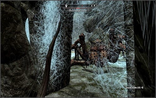 The best method of getting rid of the beast is attacking it from a distance, as while you're standing in the previous room it won't be able to hit you (screen above) - Heading to Bleak Falls Barrow - Bleak Falls Barrow - The Elder Scrolls V: Skyrim - Game Guide and Walkthrough