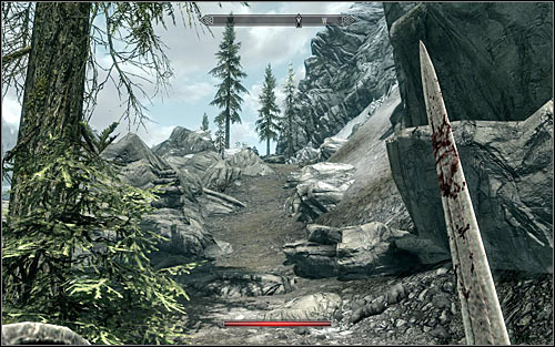 Bleak Falls Barrow is on top of a mountain west of Riverwood - Heading to Bleak Falls Barrow - Bleak Falls Barrow - The Elder Scrolls V: Skyrim - Game Guide and Walkthrough
