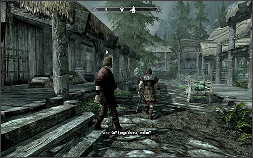 After reaching Riverwood, approach Alvor and listen to a short conversation between him and Hadvar - Meeting with Alvor | Before the Storm - Before the Storm - The Elder Scrolls V: Skyrim Game Guide