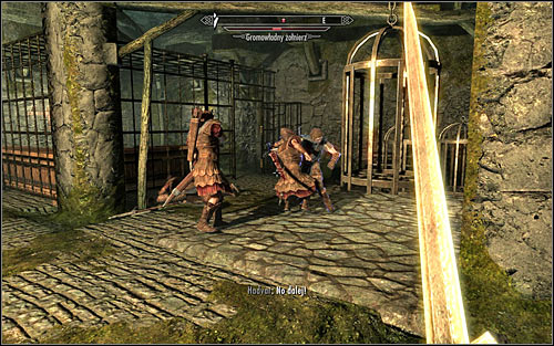 After exploring the room, approach Hadvar to continue going through the Keep - Getting through the Keep with Hadvar | Unbound - Unbound - The Elder Scrolls V: Skyrim Game Guide