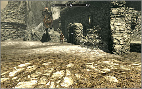 If you want to run from the keep with Hadvar, you need to approach the Helgen Keep entrance on the left, beside which hes standing (screen above) - Running away from the Dragon | Unbound - Unbound - The Elder Scrolls V: Skyrim Game Guide
