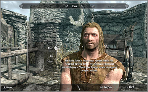 Soon after reaching the destination and getting off the wagon, you will have to tell your identity to Hadvar, therefore creating your character - Prologue | Prologue - Prologue - The Elder Scrolls V: Skyrim Game Guide