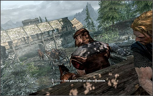 The game will begin with a cinematic, showing you riding a wagon with condemned Stormcloaks, amongst whom is their leader - Ulfric Stormcloak - Prologue | Prologue - Prologue - The Elder Scrolls V: Skyrim Game Guide