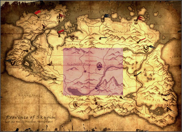 1 - [5] Central Skyrim - p.1 | World maps - World maps - The Elder Scrolls V: Skyrim Game Guide