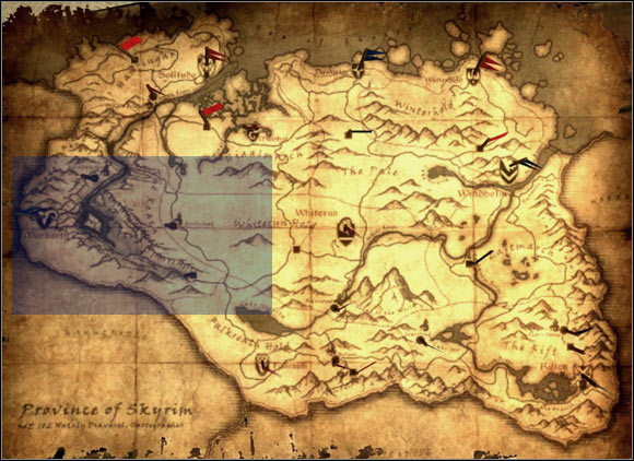 1 - [6] West of Skyrim - p.1 | World maps - World maps - The Elder Scrolls V: Skyrim Game Guide