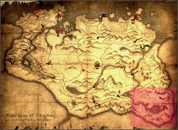 9] South-east of Skyrim - p.1 | World maps - The Elder ...