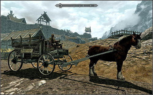 A good way to unlock access to all the major areas of Skyrim is to hire a carriage to take you there - Exploration | Hints - Hints - The Elder Scrolls V: Skyrim Game Guide