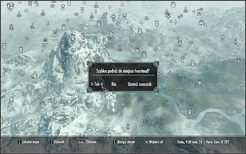 As the game progresses youll be unlocking tons of new locations (also those you only pass by) and you should remember that the game allows to quickly return to them based on the fast travel feature - Exploration | Hints - Hints - The Elder Scrolls V: Skyrim Game Guide