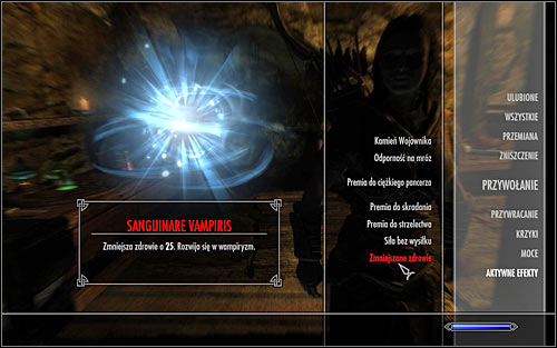You will know that youre on a right path to becoming a vampire when the game will inform you in the top left corner of the screen about catching a disease named Sanguinare Vampiris - Vampirism | Hints - Hints - The Elder Scrolls V: Skyrim Game Guide