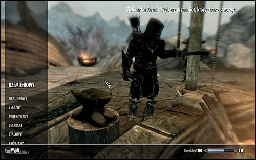 Weapons and items can be created in the same place and its done by interacting with a blacksmiths forge - Smithing - Introduction | Crafting - Crafting - The Elder Scrolls V: Skyrim Game Guide