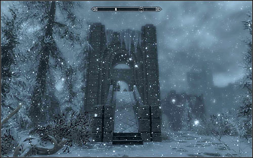 After reaching Winterhold, look for the large bridge (screen above), as its the only way of getting to the College of Winterhold - First Lessons - College of Winterhold quests - The Elder Scrolls V: Skyrim Game Guide