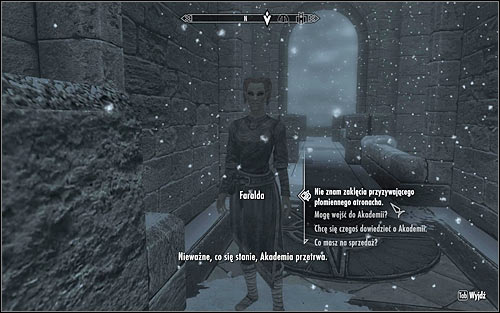 Faralda will ask you to cast a random spell - First Lessons - College of Winterhold quests - The Elder Scrolls V: Skyrim Game Guide