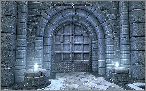 Use the door leading to the Hall of the Elements (screen above) - First Lessons - College of Winterhold quests - The Elder Scrolls V: Skyrim Game Guide