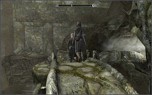 Arniel Gane works north-west from here and you can get there by choosing the only possible passage - Under Saarthal - p. 1 - College of Winterhold quests - The Elder Scrolls V: Skyrim Game Guide