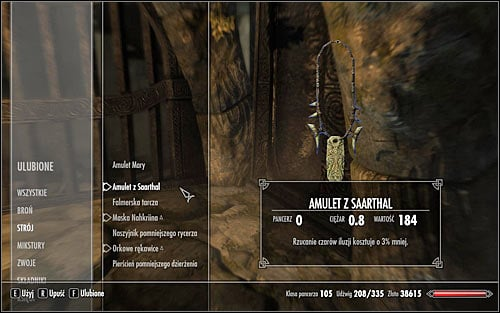 Open the inventory, go to Apparel and equip the Saarthal Amulet (screen above) - Under Saarthal - p. 1 - College of Winterhold quests - The Elder Scrolls V: Skyrim Game Guide